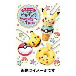 Porte Cle Pikachu Sweets Time japan plush