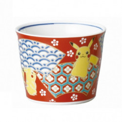 Bowl Pikachu Red Kutani Ware