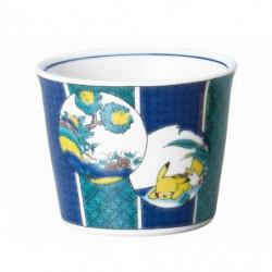 Bowl Pikachu Blue Kutani Ware