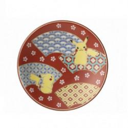 Plate Pikachu Red Kutani Ware