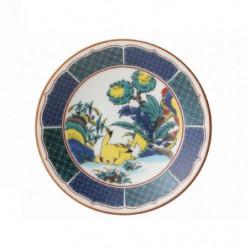 Plate Pikachu Blue Kutani Ware