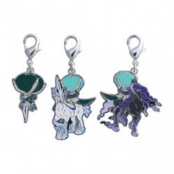 Keychains Set Calyrex Silver Lance and Jet Black Geist  Zenkoku Zukan