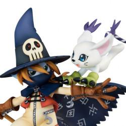 Figurines Wizarmont and Tailmon Digimon Adventure G.E.M. Series