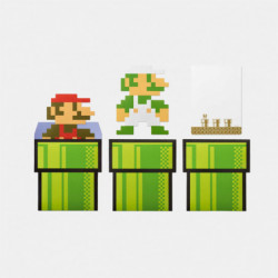 Cartes Messages Enveloppes Set 8 bits Characters Super Mario Home and Party