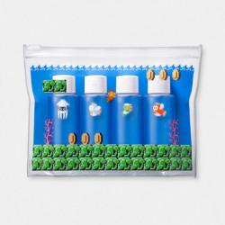 Pochette transparente Mini bouteille Set Underwater Course Super Mario Travel