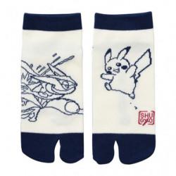 Socks Two fingers Greninja and Pikachu NINJA SHUGYO