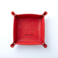 Leather Tray Red Pikachu Pocket Monsters