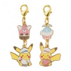 Metal Keychain Pikachu s Sweet Treats japan plush