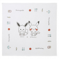 Serviette Pikachu Et Évoli Monpoké