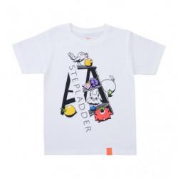 T Shirt STEPLADDER Logo White L Pokémon and Tools
