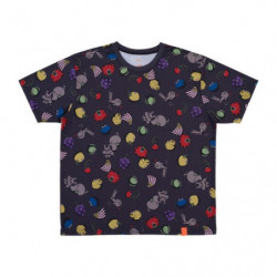 T Shirt STEPLADDER Full Pattern Noir L Pokémon and Tools