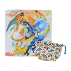 Lunch cloth Drawstring Purse Set Pokémon Battle Start