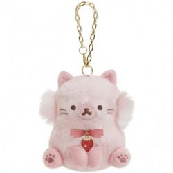 Plush Keychain A Rilakkuma Korilakkuma To Strawberry Cat