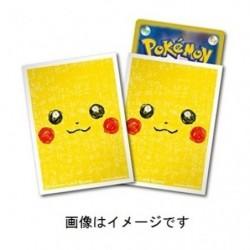 Card Sleeves Pikachu Face japan plush