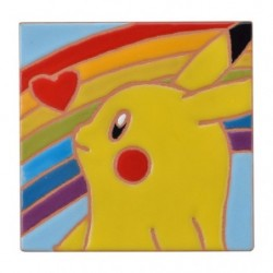 Pottery Pikachu & Rainbow ( Charity Earthquake East Japan ) japan plush