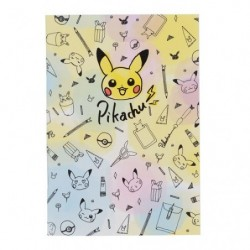 A5 Note Pikachu Drawing Purple japan plush