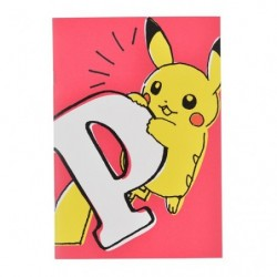A5 Note Pikachu Drawing Pink japan plush