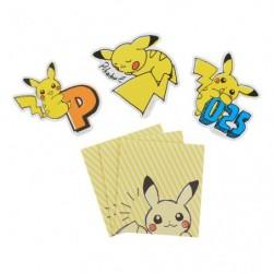 Message Card Pikachu Drawing Orange japan plush