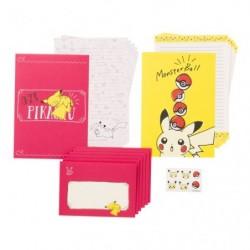 Letter Set Pikachu Drawing Pink japan plush