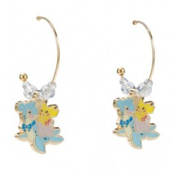 Earring Pikachu on Lapras japan plush