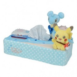 Tissu Box Pikachu on Lapras japan plush