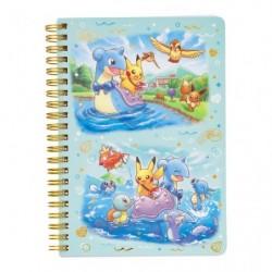 B6 Book Note Pikachu on Lapras japan plush