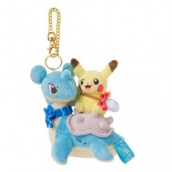 Plush Keychain Pikachu on Lapras japan plush