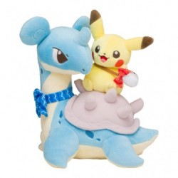 Plush Pikachu on Lapras japan plush