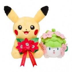 Peluche Pikachu & Shaymin Pokemon Center 20eme Anniversaire japan plush