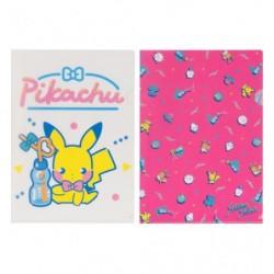 A4 Clear File Saiko Soda Pikachu Eevee japan plush