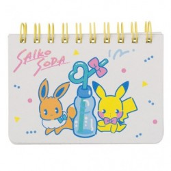 Memo Note Saiko Soda Pikachu Eevee japan plush