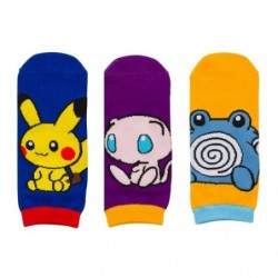 Short Socks Pikachu Mew Poliwhirl japan plush