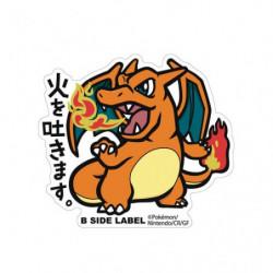 Sticker Charizard Big Pokémon B Side Label