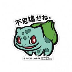 Sticker Bulbasaur Big Pokémon B Side Label