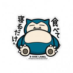 Sticker Snorlax Big Pokémon B Side Label