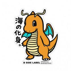 Sticker Dragonite Big Pokémon B Side Label