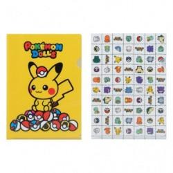 A4 Clear File Pokemon Dolls Pika Pokeball japan plush