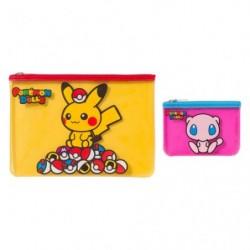 Flat Pocket Pokemon Dolls Pikachu Mew japan plush