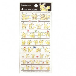 Stickers 4SIZE STICKERS x Pikachu number025
