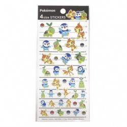 Stickers Sinnoh Pokémon 4SIZE STICKERS