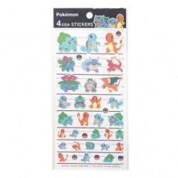 Stickers Kanto Pokémon 4SIZE STICKERS