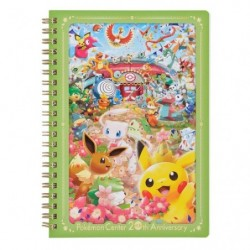 Note Book Pokemon Center 20th Anniversary japan plush