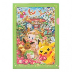 A4 Clear File Pokemon Center 20th Anniversary japan plush