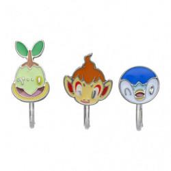 Boucles Oreilles Clip Tortipouss Ouisticram Tiplouf Pokémon accessory