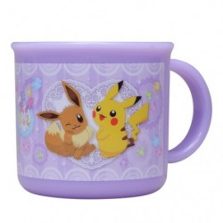 Mug Cup Purple Pikachu Eevee Friends japan plush