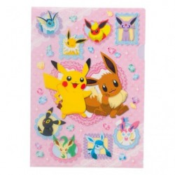 A4 Clear File Pikachu Eevee Friends japan plush