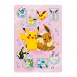 Shitajiki Pikachu Eevee Friends japan plush