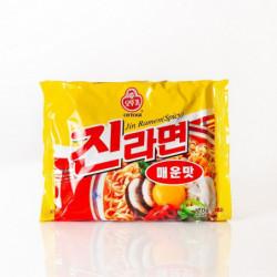 Instant Noodles Jin Ramen Spicy Ottogi Ongane Japan