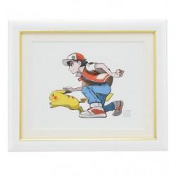 Frame Art Red & Pikachu japan plush
