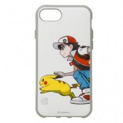 Smartphone Flat Cover Red & Pikachu japan plush